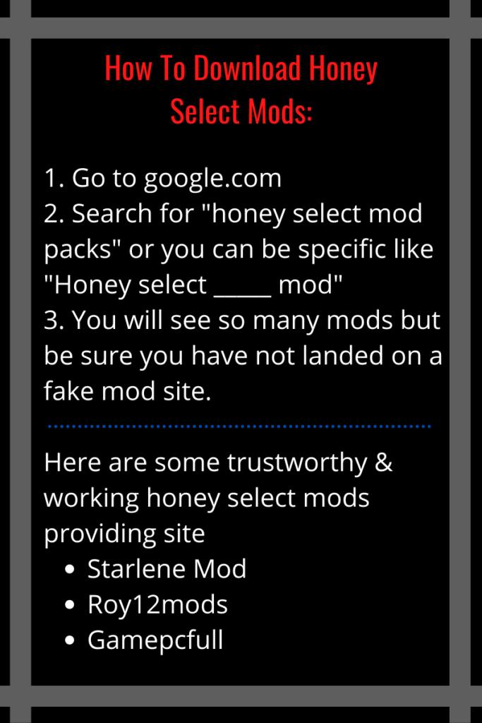honey select mods packs